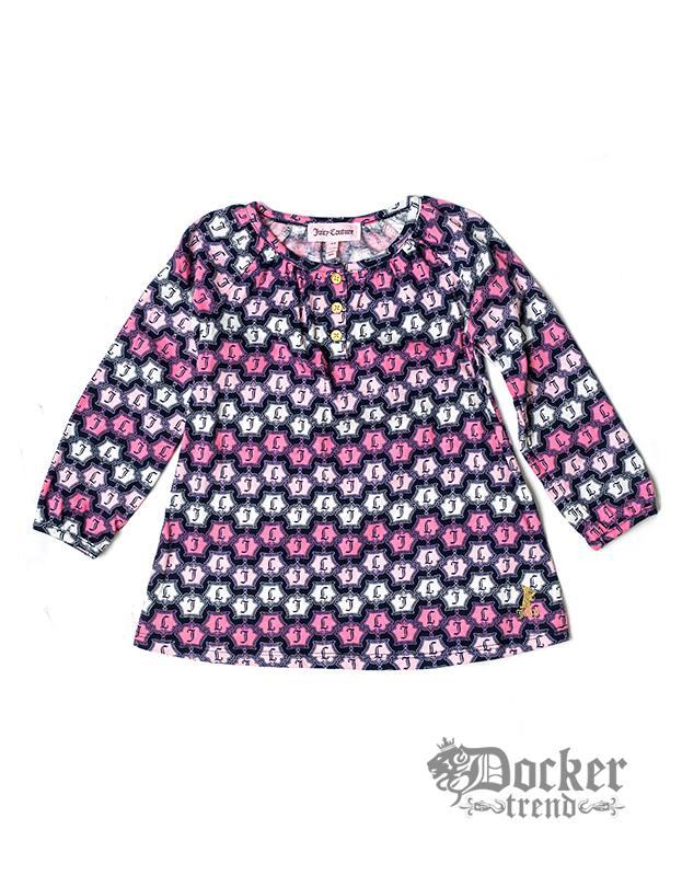 Комплект для девочки туника рукав 3/4 logo + легенсы Juicy Couture 009464452