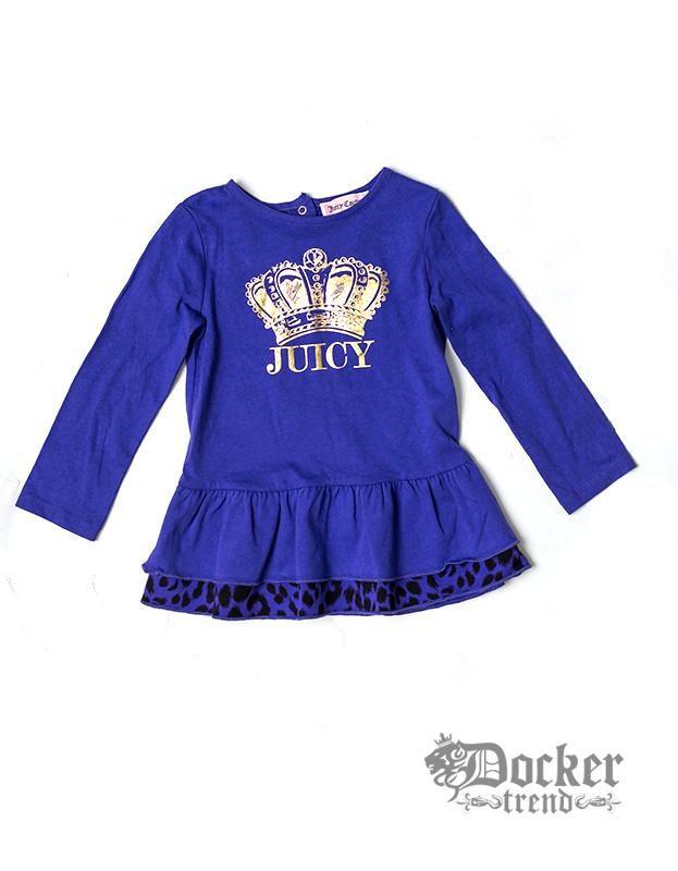 Комплект для девочки туника велюр Violet +легинсы  Grey  Juicy Couture 009473379