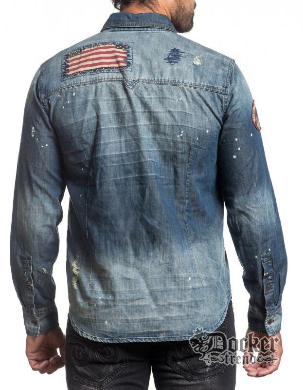 Рубашка мужская Affliction 110WV534