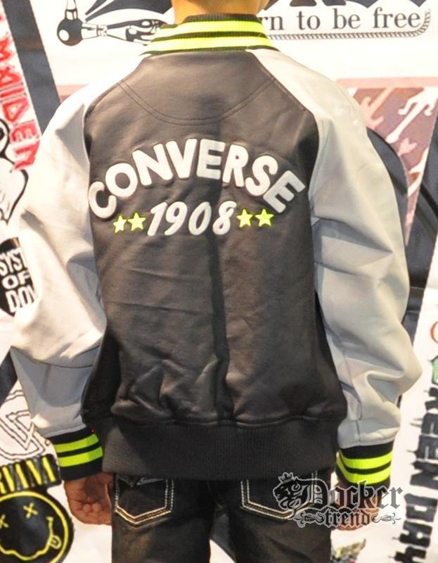 Бомбер для мальчика  иск. кожа Converse 15133616