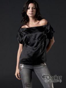 Блуза женская Affliction AW5011blk 1