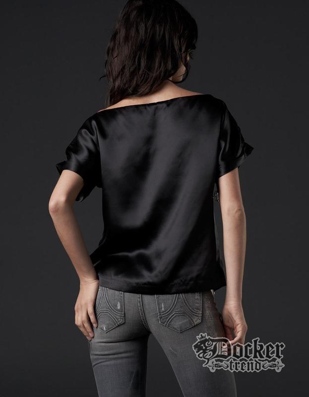 Блуза женская Affliction AW5011blk