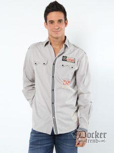 Рубашка мужская  Christian Audigier CAM20052 grey 1