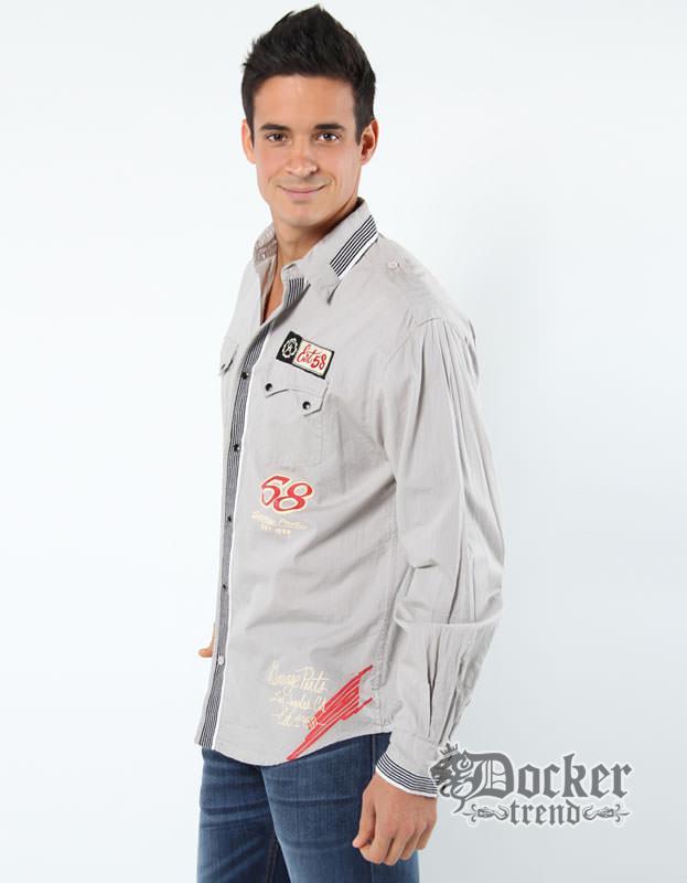 Рубашка мужская  Christian Audigier CAM20052 grey