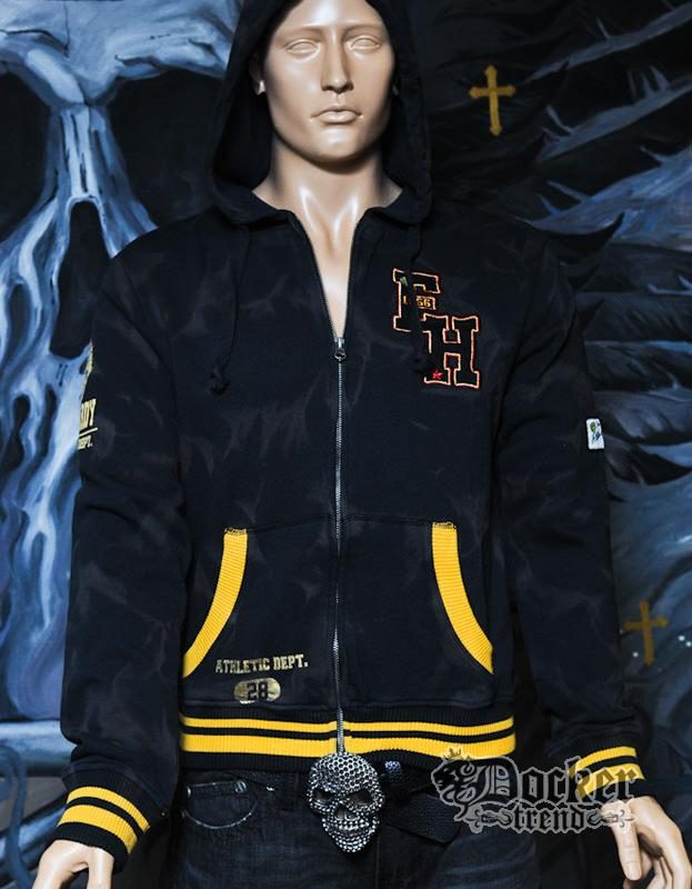 Кофта мужская с капюшоном Ed Hardy HC121302 BLK