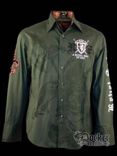 Рубашка мужская Rebel Spirit LSW100435 (olive) 1