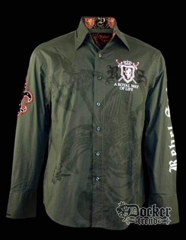 Рубашка мужская Rebel Spirit LSW100435 (olive)
