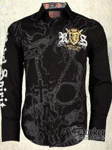 Рубашка мужская Rebel Spirit LSW100480 BLK 1