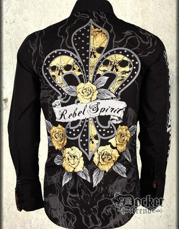 Рубашка мужская Rebel Spirit LSW100480 BLK