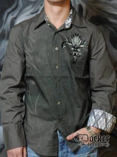 Рубашка мужская Rebel Spirit LSW121288 OLV 1