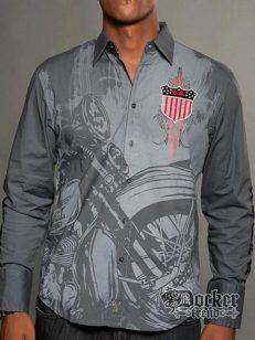 Рубашка мужская Rebel Spirit LSW121392 CHAR 1