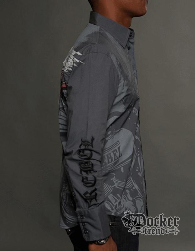 Рубашка мужская Rebel Spirit LSW121392 CHAR