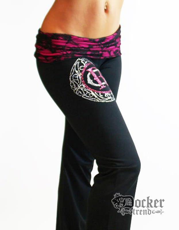 Спортивные штаны женские Rush Couture WLP-03_BLK.PINK