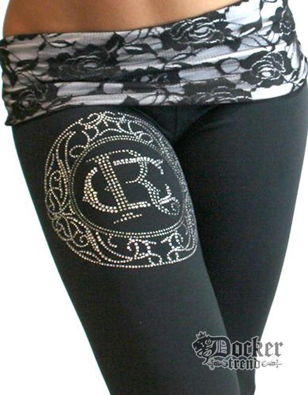 Спортивные штаны женские Rush Couture WLP-03_BLK.WHT