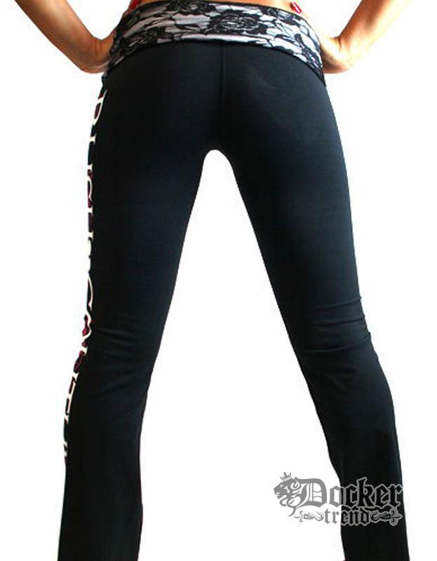 Спортивные штаны женские Rush Couture WLP-04_BLK.WHT