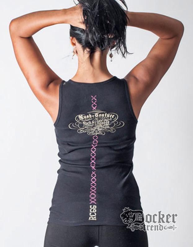 Майка женская Rush Couture WTK03_BLK.PINK