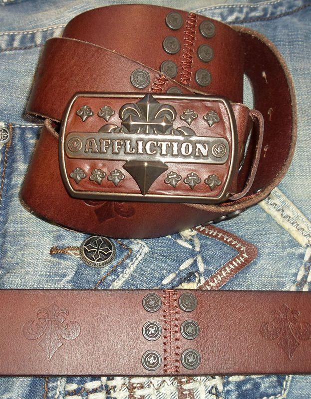 Ремень Affliction A1011bown