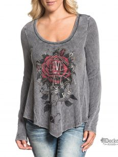 Футболка Affliction FANCY ROSE  AW18099