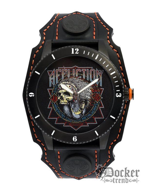 Часы INDIAN HEAD WATCH AF4200IH blkorange