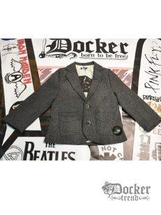 Пиджак для мальчика с кожанными вставками  tweed minoti 008514820