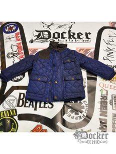 Куртка для мальчика с элементами из вельвета  синтапон quilted blue life and legend 009539318