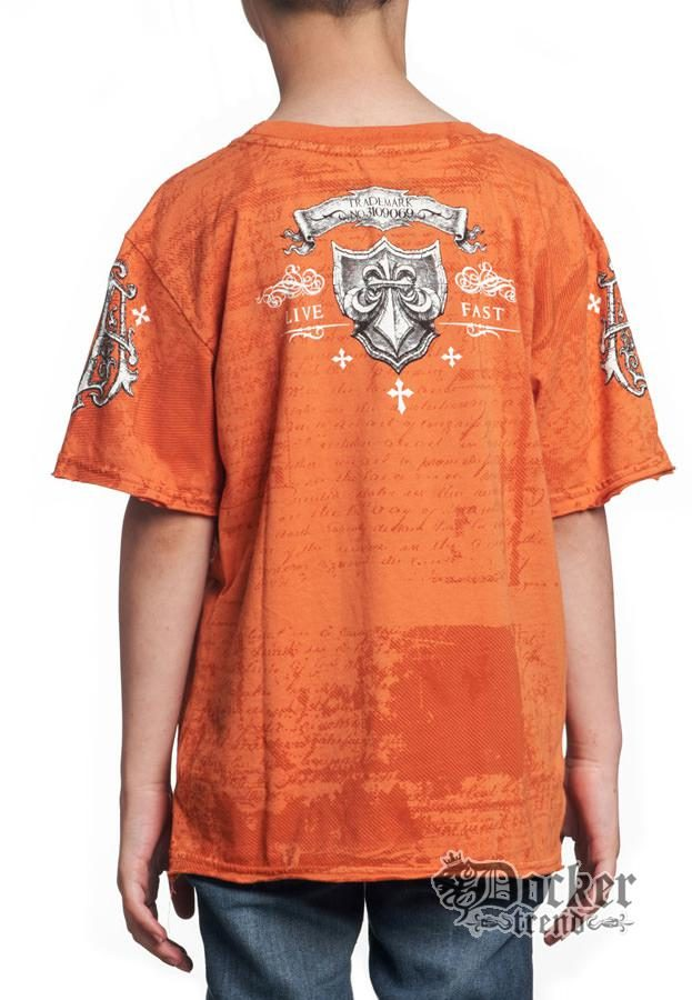 Футболка для мальчика Affliction A8211orange