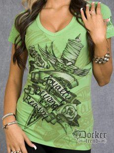 Футболка женская Rebel Spirit GSSV100339 (green)