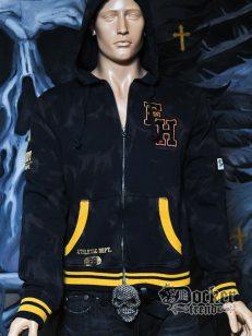 Кофта мужская с капюшоном Ed Hardy HC121302 BLK 1