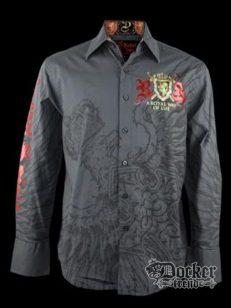 Рубашка мужская Rebel Spirit LSW100433 (carcoal)