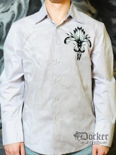 Рубашка мужская Rebel Spirit LSW121283 (grey) 1