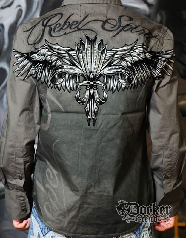 Рубашка мужская Rebel Spirit LSW121288 OLV