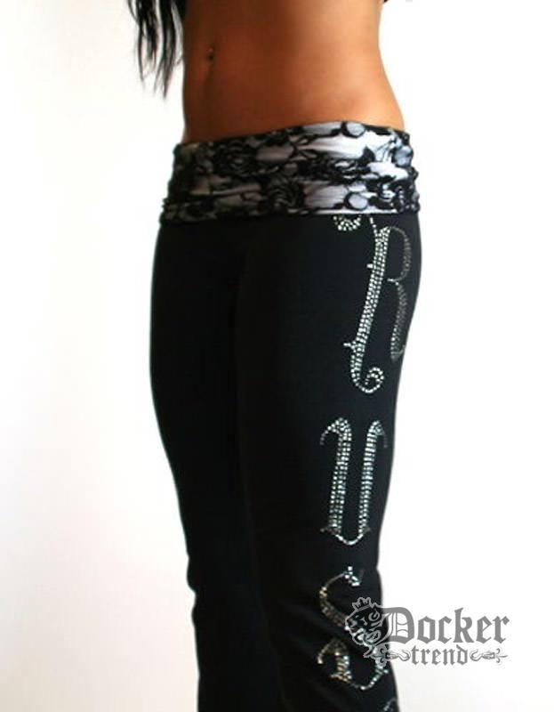 Спортивные штаны женские Rush Couture WLP-02_BLK.WHT