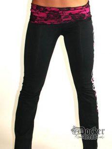 Спортивные штаны женские Rush Couture WLP-04_BLK.PINK