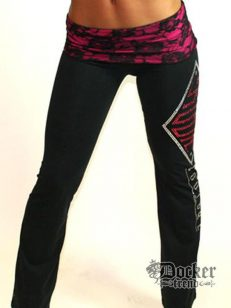 Спортивные штаны женские Rush Couture WLP_BLK.PINK