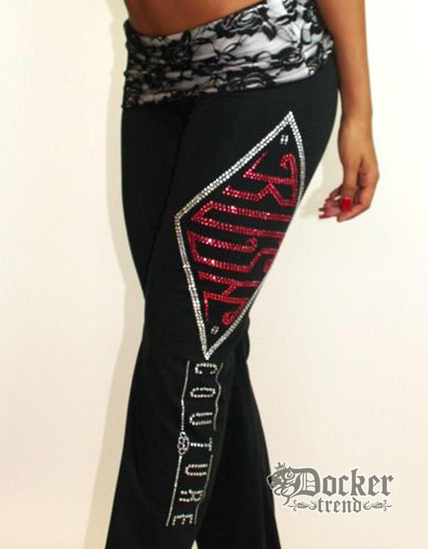 Спортивные штаны женские Rush Couture WLP_BLK.WHT