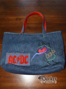 Сумка с ручной вышивкой AC/DC