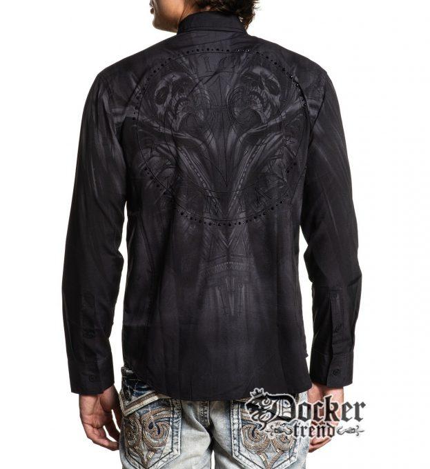 Рубашка Affliction 110WV811 вид со спины